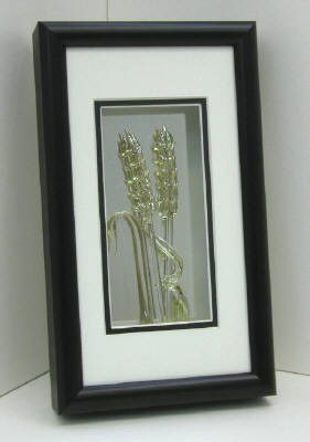 Artist: Berting Glass, Title: Framed Coloured Wheat Small - click for larger image