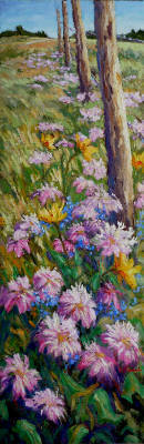 Artist: Audrey  Pfannmuller, Title: Fence-line Bee Balm - click for larger image