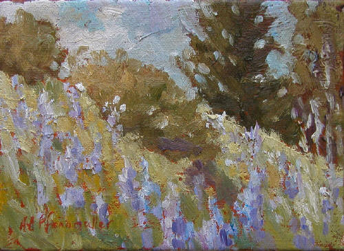 Artist: Audrey  Pfannmuller, Title: Lupins     I2408 - click for larger image
