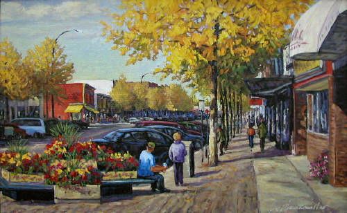 Artist: Audrey  Pfannmuller, Title: Main Street - click for larger image