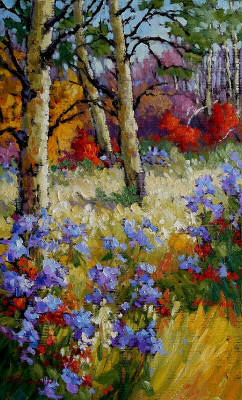 Artist: Audrey  Pfannmuller, Title: Meadow Asters - click for larger image
