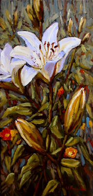Artist: Audrey  Pfannmuller, Title: White Lilies     K1507 - click for larger image