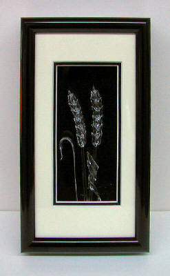 Artist: Berting Glass, Title: Framed Clear Wheat Small - click for larger image