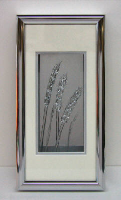 Artist: Berting Glass, Title: Framed Clear Windy Wheat - click for larger image