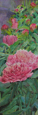 Artist: Carol Hama Chang, Title: Peonies - click for larger image