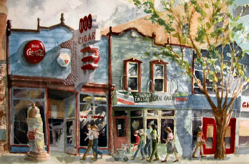 Artist: Carol Hama Chang, Title: The Hub, Whyte Avenue - click for larger image