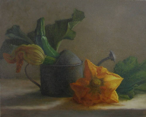 Artist: Cindy Revell, Title: Squash Blossom Journey - click for larger image