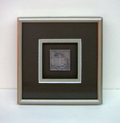 Artist: David Goldsmith, Title: Pewter Grain Elevator (Black Mat) - click for larger image