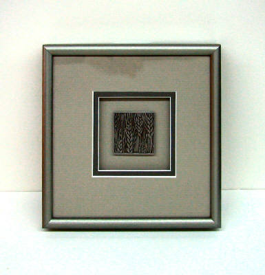 Artist: David Goldsmith, Title: Pewter Wheat (Beige Mat) - click for larger image