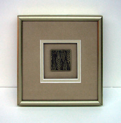 Artist: David Goldsmith, Title: Pewter Wheat (Tan Mat) - click for larger image