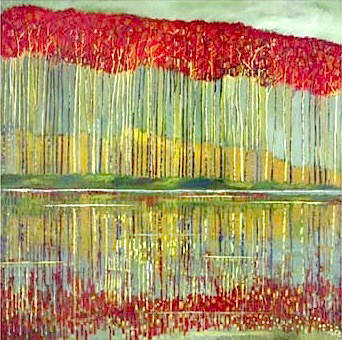 Artist: Reproduction Artist, Title: Red Trees - click for larger image