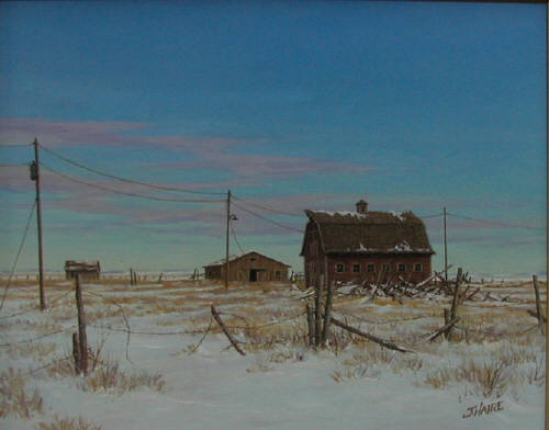 Artist: Joe Haire, Title: Old Winter Memories - click for larger image