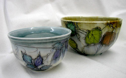 Artist:  Little Sister Pottery, Title: Nesting Bowls - click for larger image