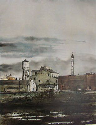 Artist: Martin Giesen, Title: Flour Mill - click for larger image