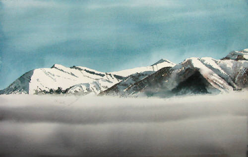 Artist: Martin Giesen, Title: Low Clouds Range - click for larger image