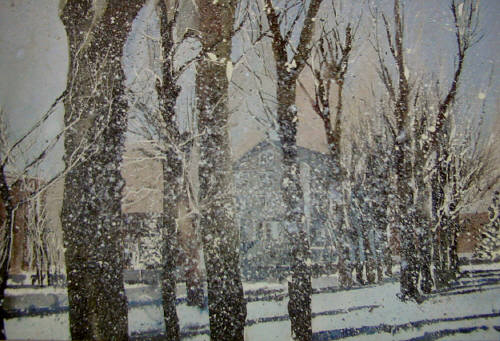Artist: Martin Giesen, Title: Old Main Winter - click for larger image